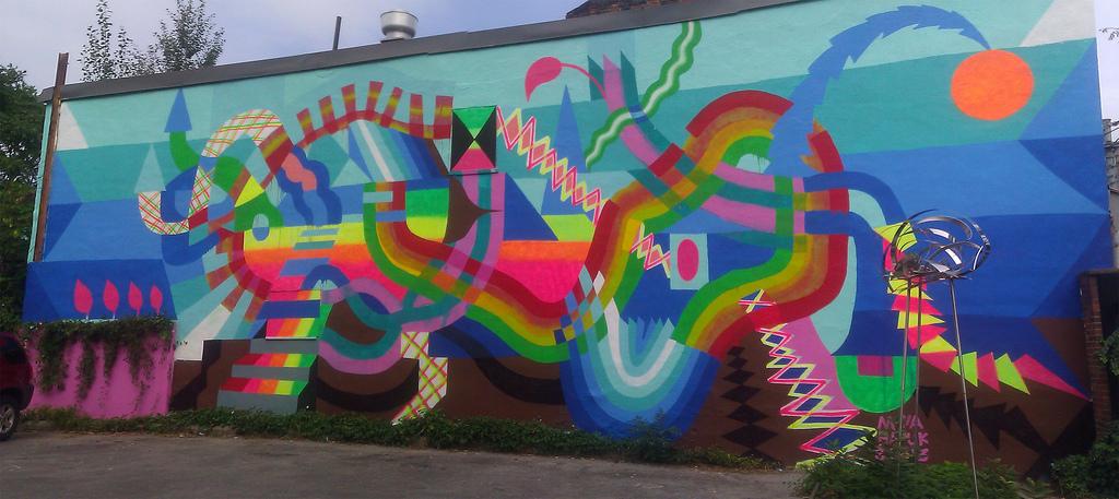 Maya Hayuk - Mural - MOCCA, Toronto by bixentro, on Flickr