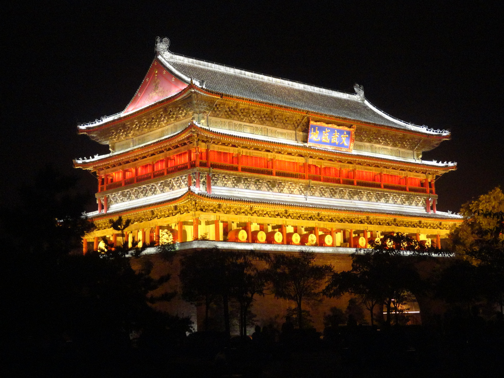 Drum Tower, Xian, China by travelourplanet.com, on Flickr