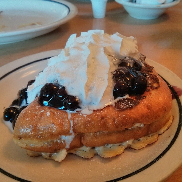 Stuffed French toast with blueberry sauc by todoleo, on Flickr