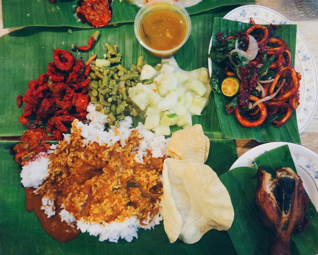 Banana Leaf Rice for dinner #sayasakitme by Sham Hardy, on Flickr