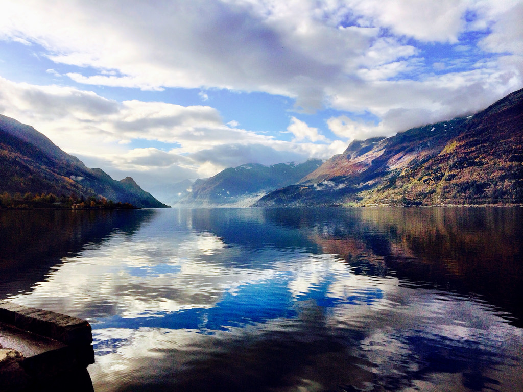 #fall #norway #mountain #fjords #nature by Camillaen, on Flickr