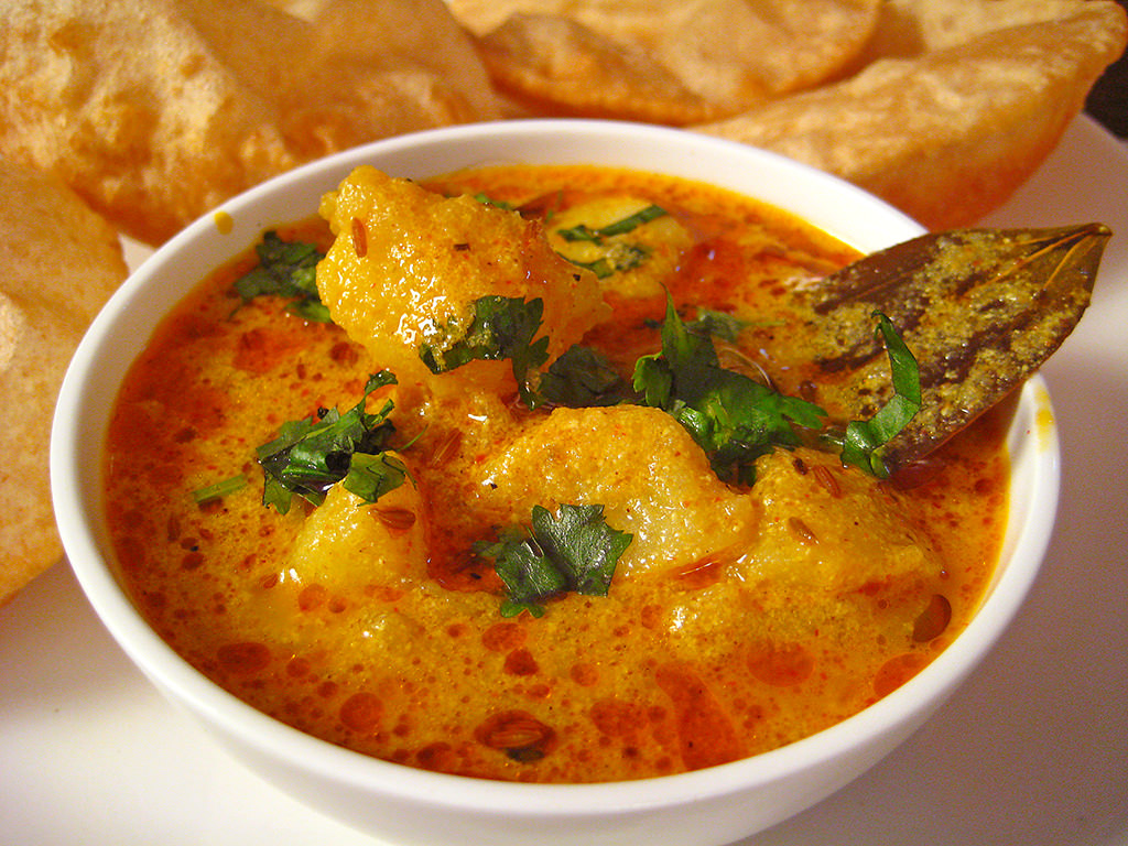 Yogurt Potato Curry Recipe From North In by Sonia Goyal Jaipur, on Flickr