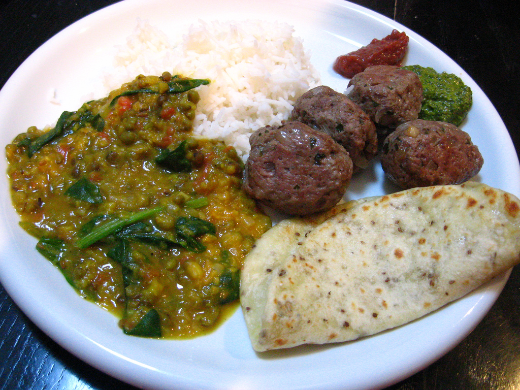 Barb's delicious Indian Food from Vij's by roland, on Flickr
