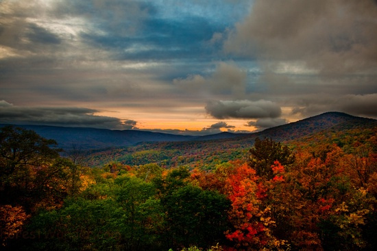 West Virginia Fall Foliage Mountain Suns by ForestWander.com, on Flickr