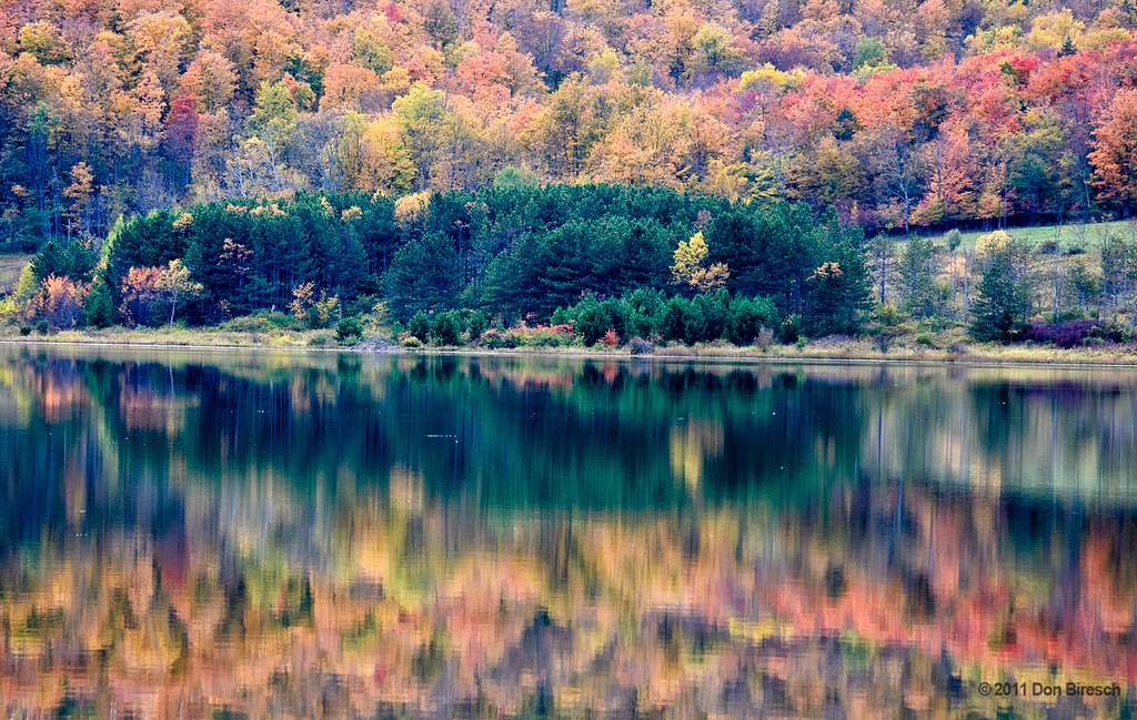 fall foliage beachwood lake reflections by dfbphotos, on Flickr